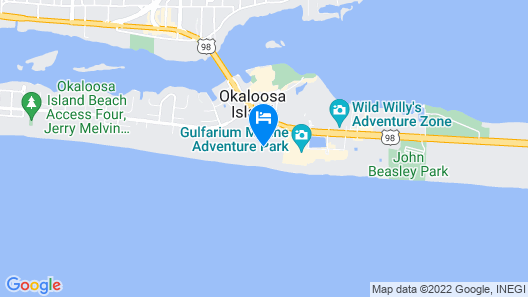 Holiday Inn Resort Fort Walton Beach, an IHG Hotel Map