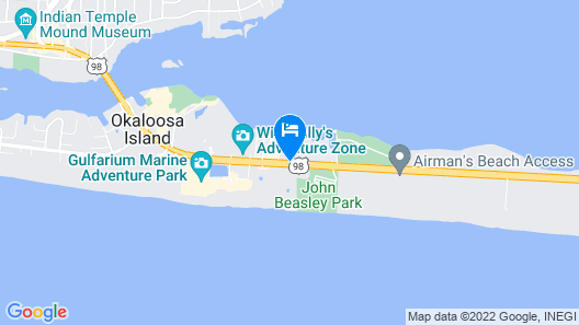 Destin West Resort by Panhandle Getaways Map