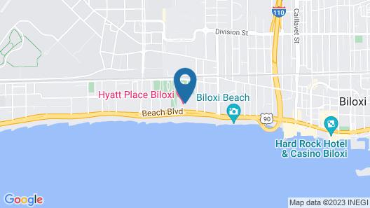 Hyatt Place Biloxi Map