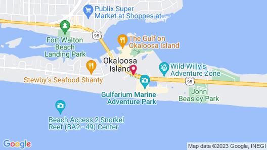Holiday Inn Resort Fort Walton Beach Map