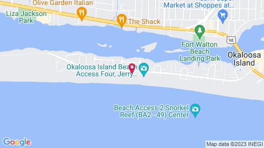 Water View, Beach Retreat, Tropical Isle #201, Studio Map