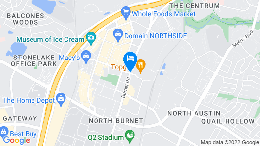 Home2 Suites by Hilton Austin North/Near the Domain, TX Map