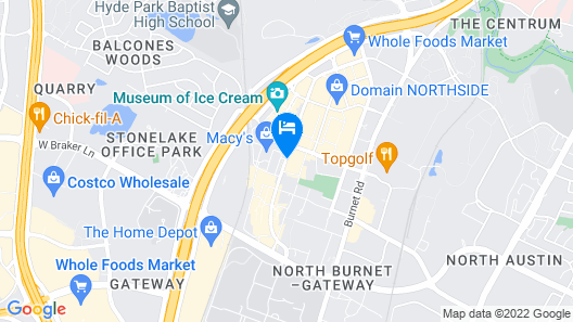 The Westin Austin at The Domain Map