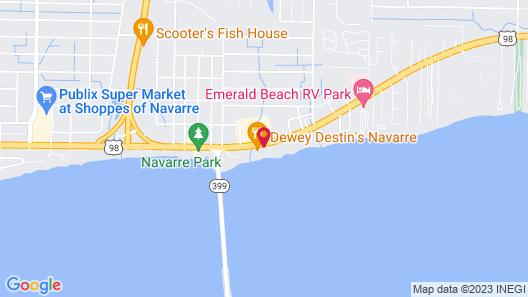 Best Western Navarre Waterfront Map
