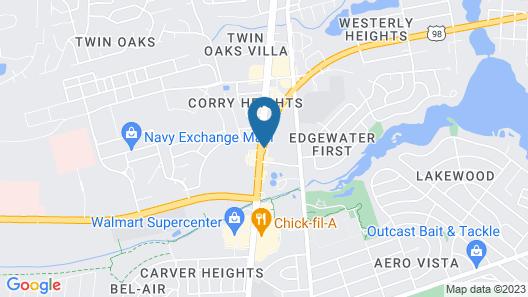 Ashton Inn & Suites Map