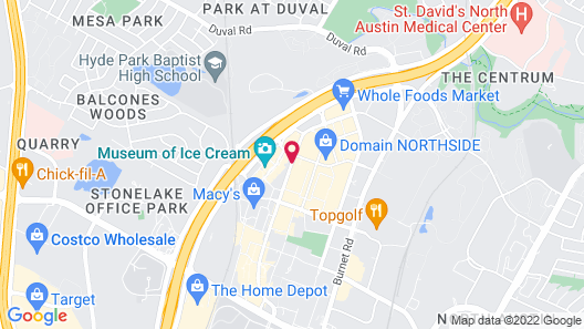 Aloft Austin at The Domain Map