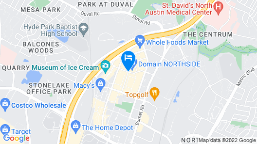 Archer Hotel at The Domain Map