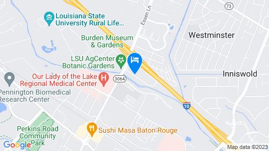 Best Western LSU/Medical Corridor Inn & Suites Map