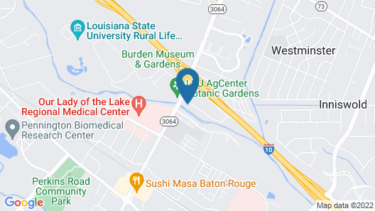 Drury Inn & Suites Baton Rouge Map