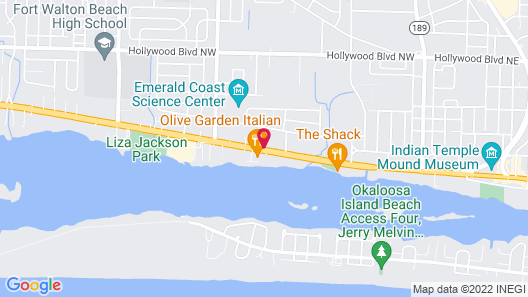 Holiday Lodge & Suites Fort Walton Beach Map