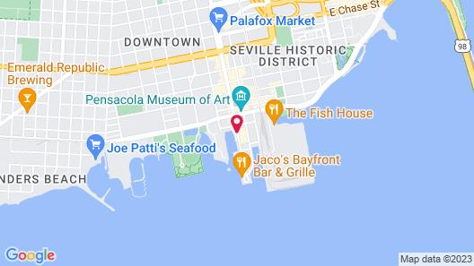 New World Inn, Downtown Pensacola Map