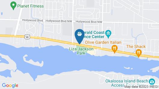 Regency Inn Near Boardwalk & Hurlburt Field Map