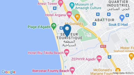 Hotel Riu Palace Tikida Taghazout - All inclusive Map