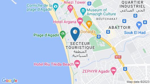 Valeria Jardins D'Agadir Resort Map