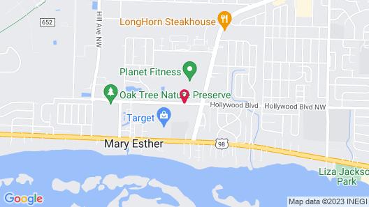 Hampton Inn & Suites Mary Esther-Fort Walton Beach, FL Map