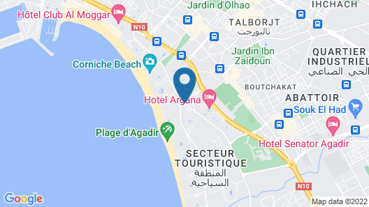 Tagadirt Appart-Hotel Map