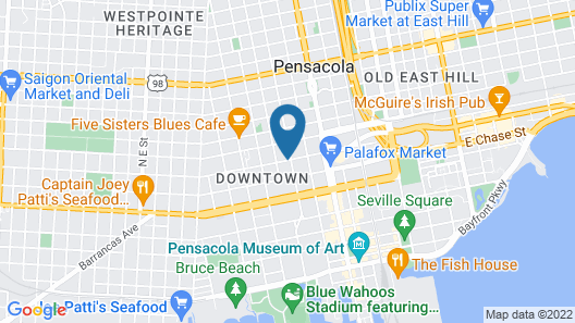 Pensacola Victorian Bed and Breakfast Map