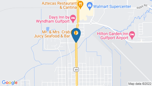 Comfort Suites Gulfport Map