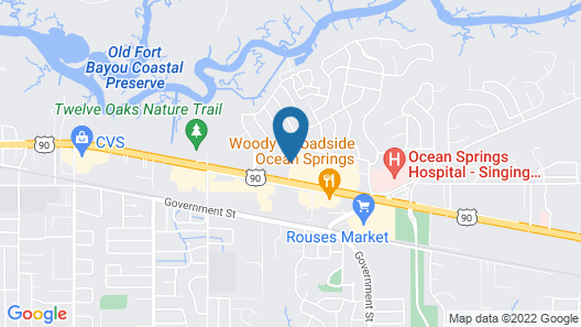 Studio 6 Ocean Springs, MS Map