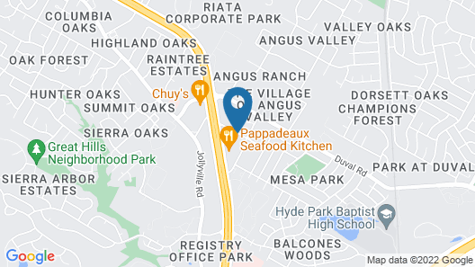 Hilton Garden Inn Austin NW - Arboretum Map