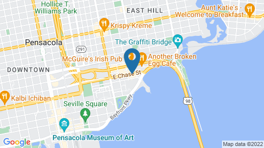 Residence Inn by Marriott Pensacola Downtown Map