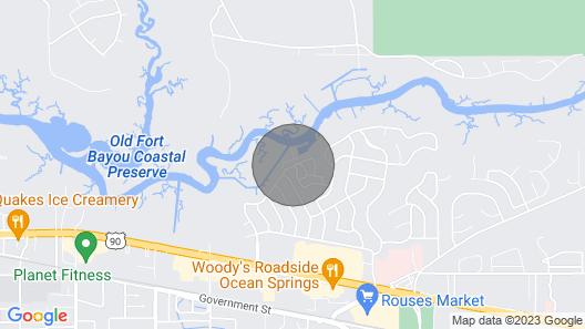 Waterfront Ocean Springs Condo w/ Resort Amenities Map