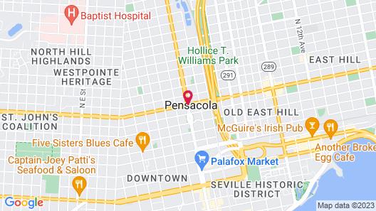 Days Inn by Wyndham Pensacola - Historic Downtown Map
