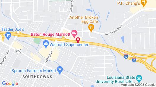 Comfort Inn Baton Rouge Map