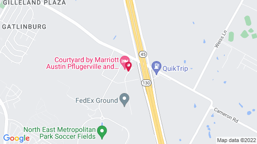 Courtyard by Marriott Austin Pflugerville and Pflugerville Conference Center Map