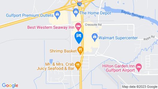 Motel 6 Gulfport, MS Map