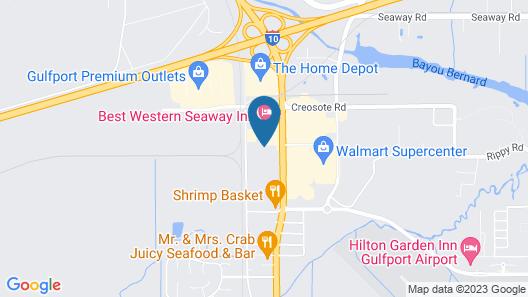 Red Roof Inn Gulfport - Biloxi Airport Map