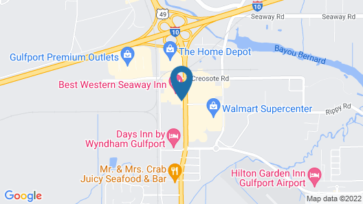 Quality Inn Gulfport I-10 Map