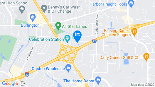Sleep Inn Baton Rouge East I-12 Map