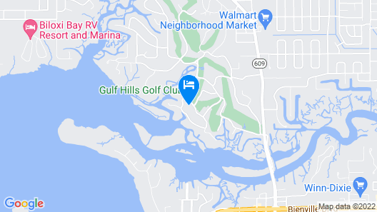 Gulf Hills Hotel and Retreat on the Water Map