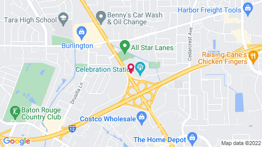 OYO Hotel Baton Rouge Mid City Map