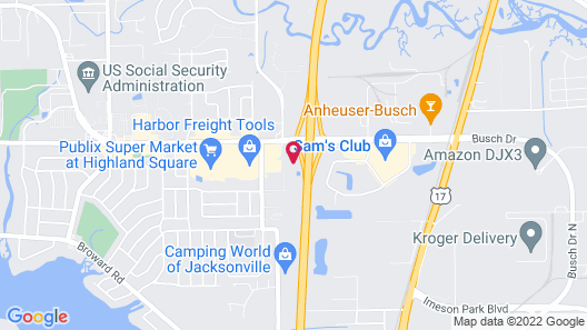 Stayable Suites Jacksonville Map