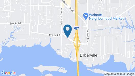 Super 8 by Wyndham Diberville Biloxi Area Map