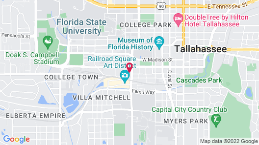 Hampton Inn & Suites Tallahassee Capitol-University Map