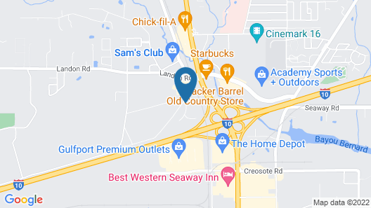 Home2 Suites by Hilton Gulfport I-10 Map