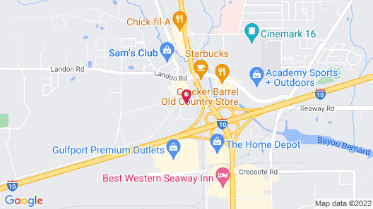 Hampton Inn & Suites Gulfport, MS Map