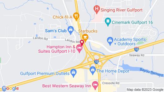 Sleep Inn & Suites Gulfport Map