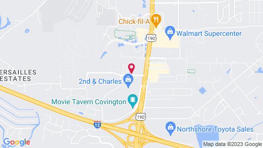 WeStay Suites - Covington Mandeville Map