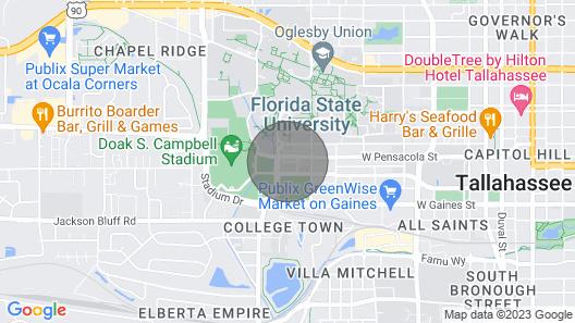 Excellent Location! On Campus Studio Sleeps 4 Map