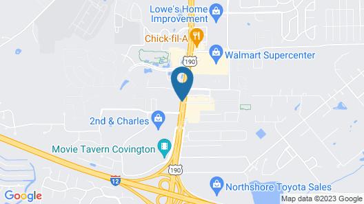 Best Western Covington Map