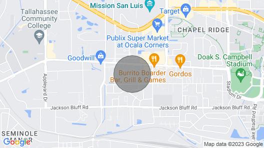 Patio Paradise, 1.6 Miles to FSU Stadium! Map