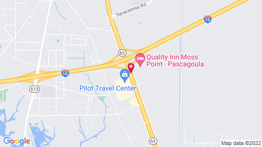 Quality Inn Moss Point - Pascagoula Map