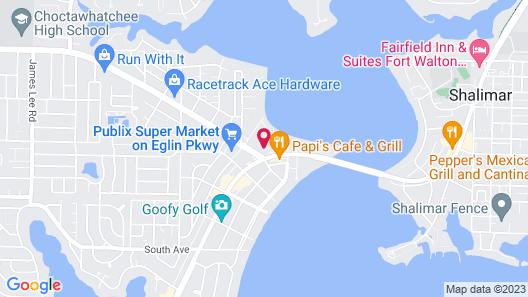 WoodSpring Suites Fort Walton Beach Map