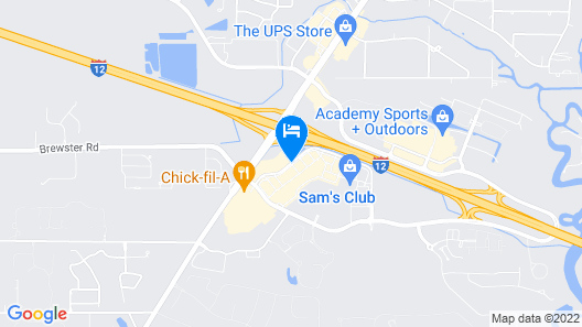 Holiday Inn Express Covington-Madisonville Map
