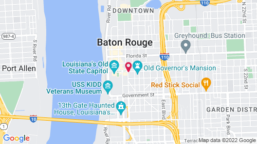 Holiday Inn Express Baton Rouge Downtown Map