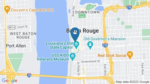 Hotel Indigo Baton Rouge Downtown Map